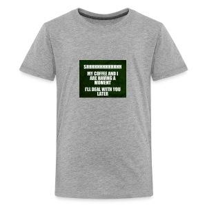 coffee funnY - Kids' Premium T-Shirt