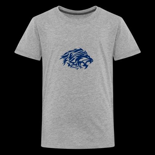 lion blue - Kids' Premium T-Shirt