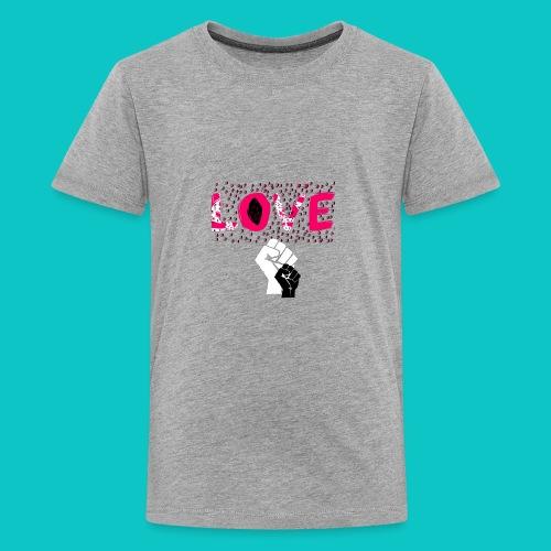 tshirt_1_love_wo_black_2_4 - Kids' Premium T-Shirt
