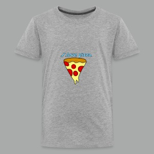 I love pizza - T-shirt premium pour ados