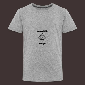 Simplistic Design Logo With Text - Kids' Premium T-Shirt