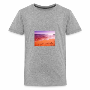 on beach love yourself wallpapers 1024x768 - Kids' Premium T-Shirt