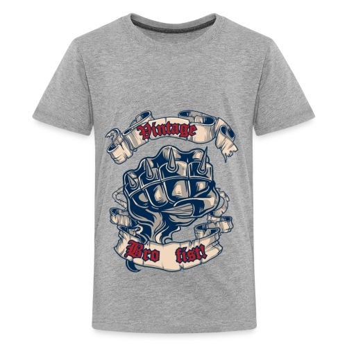 Vintage bro fist - Kids' Premium T-Shirt