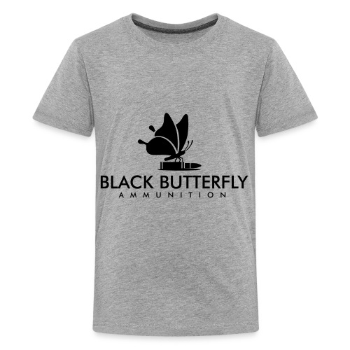 Black Butterfly Ammo Logo in Black - Kids' Premium T-Shirt