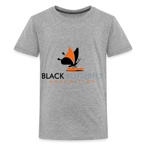 Black Butterfly Floating Logo - Kids' Premium T-Shirt