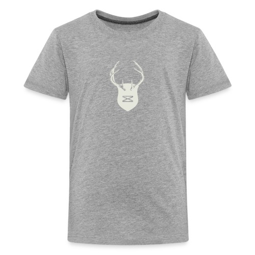 0218 mmch threadless shop stagshead cream - Kids' Premium T-Shirt