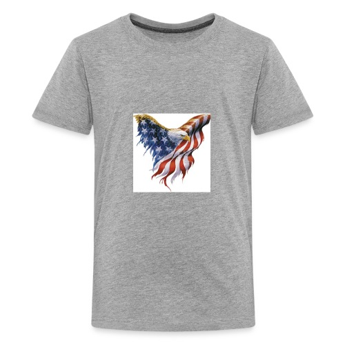 american flag bald eagle - Kids' Premium T-Shirt
