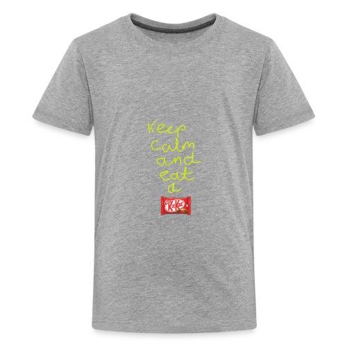 Keep calm and eat a KitKat - Kids' Premium T-Shirt