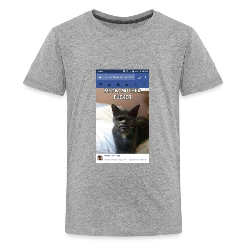 Meow Mother Fker Cat Pulp Fiction parody - Kids' Premium T-Shirt