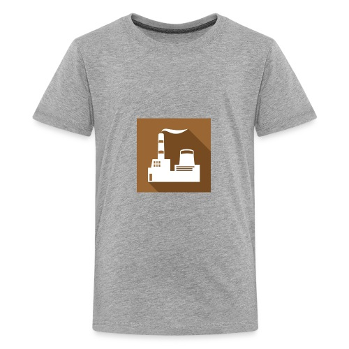 flat factory vector - Kids' Premium T-Shirt