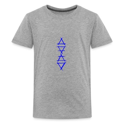 Alchemy symbol 4 elements blue - Kids' Premium T-Shirt