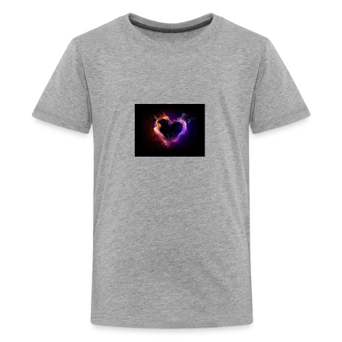 Heart with flames - Kids' Premium T-Shirt