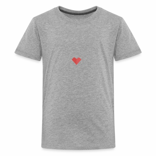 a loving heart on your clothing - Kids' Premium T-Shirt