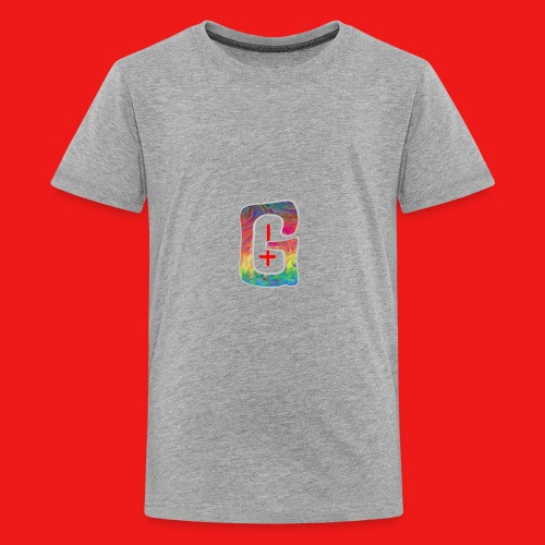 Psychedelic Tired Gang Logo - Kids' Premium T-Shirt
