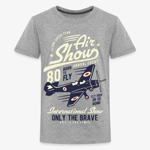 Only the brave air show - Kids' Premium T-Shirt