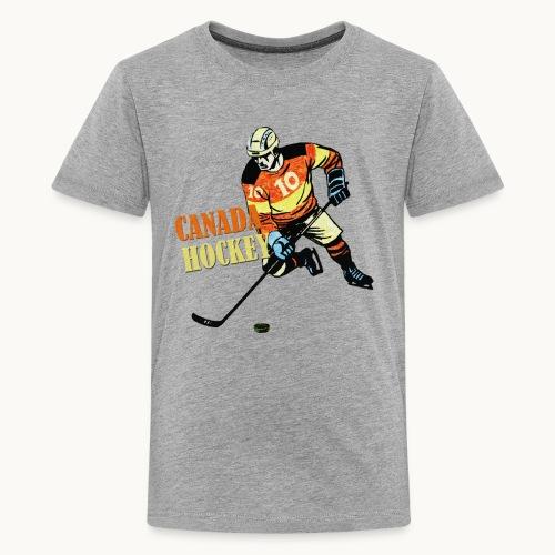 CANADA HOCKEY Carolyn Sandstrom THREADLESS - Kids' Premium T-Shirt