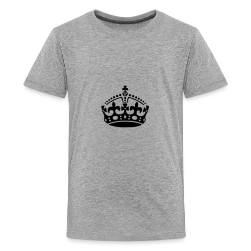 13625877091416650323keep calm crown hi - Kids' Premium T-Shirt