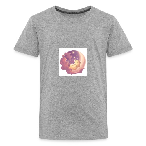 little bunnies on moon - Kids' Premium T-Shirt