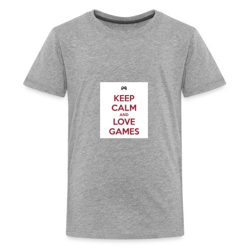 keep calm and love games - Kids' Premium T-Shirt