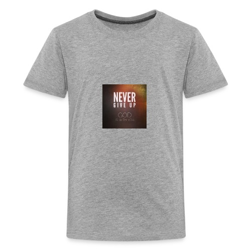 never give up god is with you - Kids' Premium T-Shirt