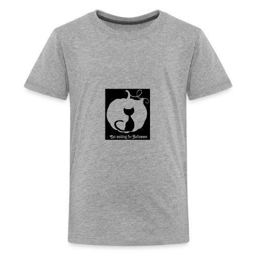 Cat waiting for Halloween - Kids' Premium T-Shirt