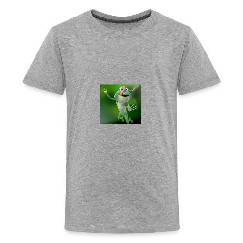 Capture 2017 12 08 17 31 39 1 green frog - Kids' Premium T-Shirt