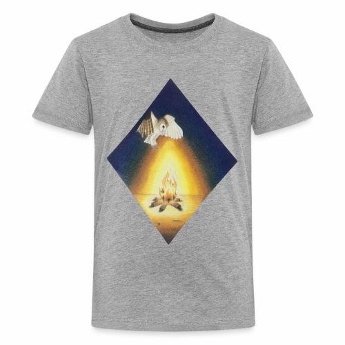 Owl by Firelight - Kids' Premium T-Shirt