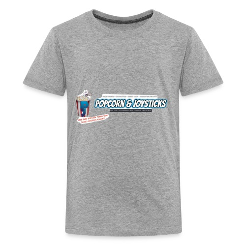 Popcorn and Joysticks Banner - Kids' Premium T-Shirt