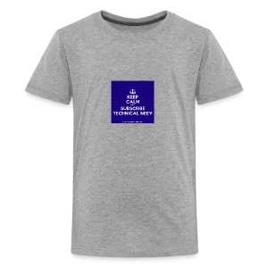 KeepCalm blue and white edition - Kids' Premium T-Shirt