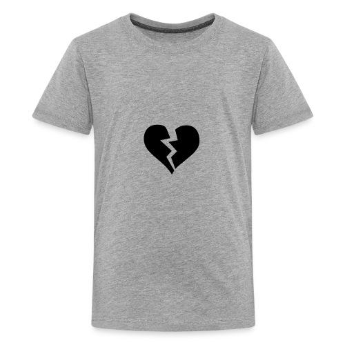 Black Broken Heart - Kids' Premium T-Shirt