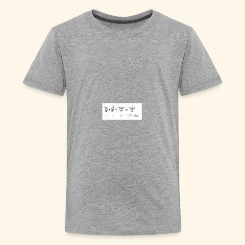 illuminati symbols I L KILKsign - Kids' Premium T-Shirt