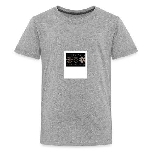 in this family nobody fights alone merchandise - Kids' Premium T-Shirt