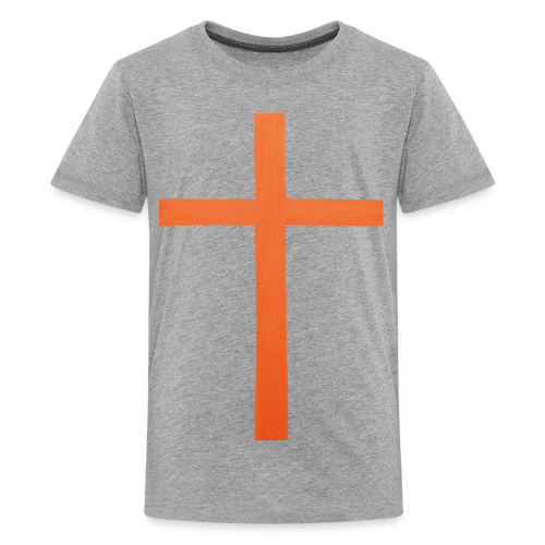 Orange Cross Jesus Rock Design AVE - Kids' Premium T-Shirt