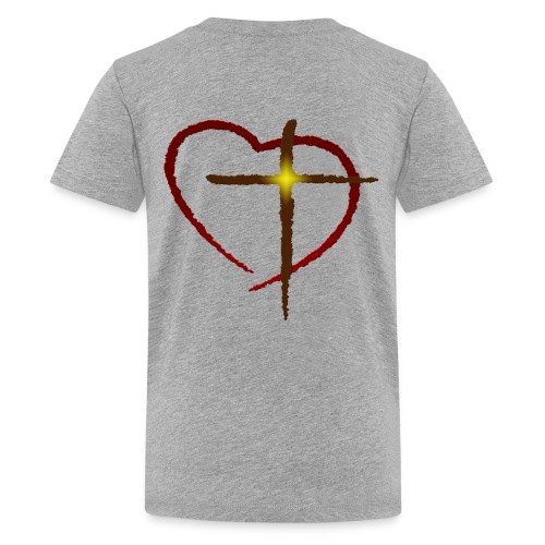 Heart and Cross - Kids' Premium T-Shirt