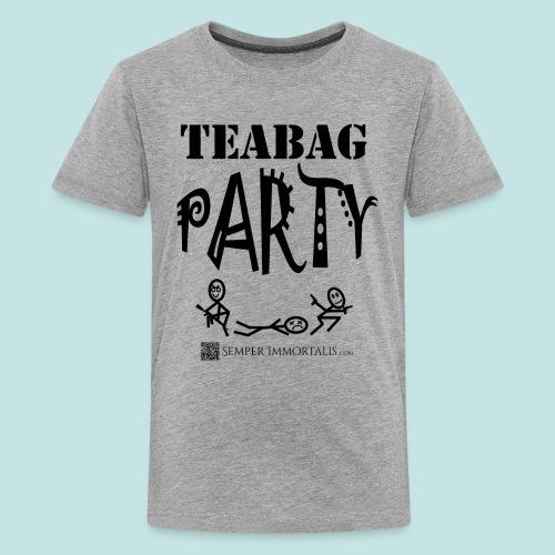 Teabag Party (black) - Kids' Premium T-Shirt