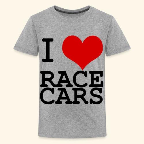 I Love Race Cars - Kids' Premium T-Shirt
