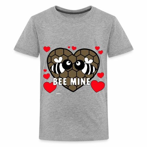 valentines day bee mine 4 - Kids' Premium T-Shirt