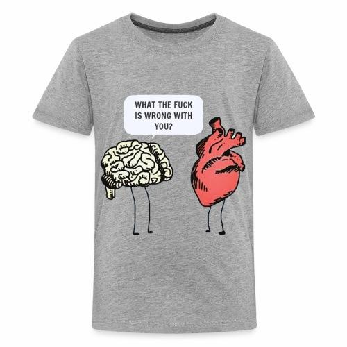 brain vs heart - Kids' Premium T-Shirt