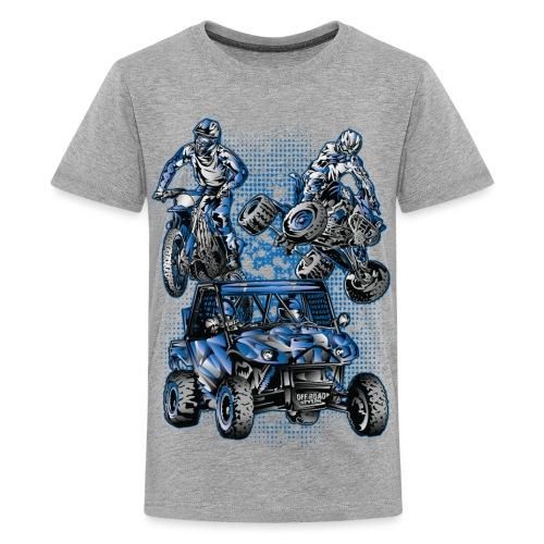 Moto Extreme Sports Blue - Kids' Premium T-Shirt