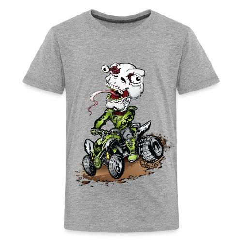 ATV Quad Crazy Skully - Kids' Premium T-Shirt