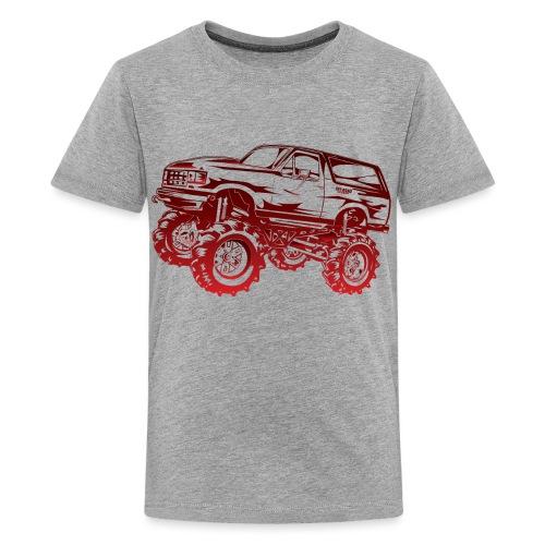 Mega Mud Ford Bronco Red - Kids' Premium T-Shirt