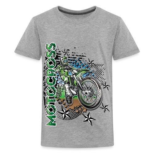 Kawasaki Dirt Bike Shirt - Kids' Premium T-Shirt
