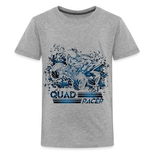 Blue Quad Racer Grunge - Kids' Premium T-Shirt