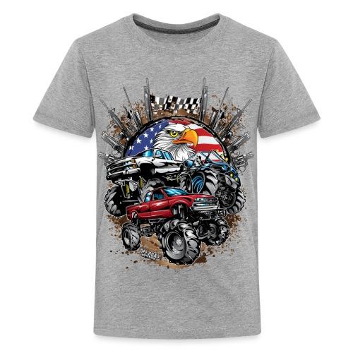 Mega Mud Trucks USA - Kids' Premium T-Shirt