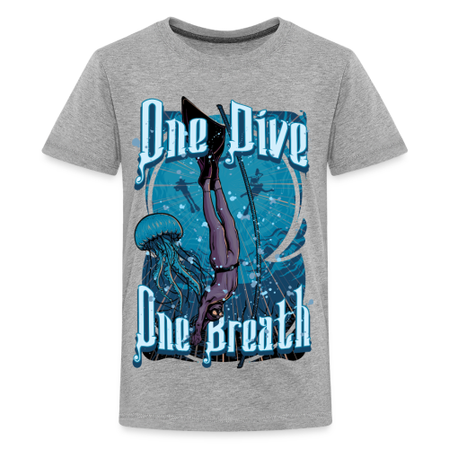 One Dive One Breath Freediving - Kids' Premium T-Shirt