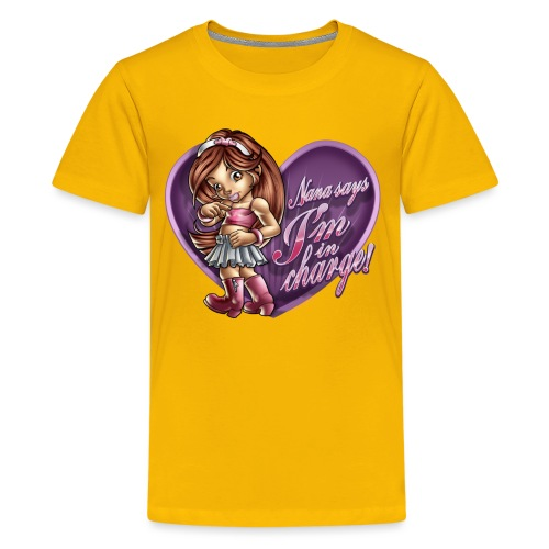 Nana Says by RollinLow - Kids' Premium T-Shirt