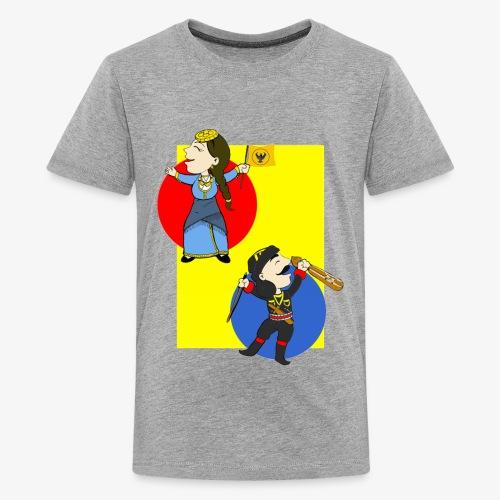 Cartoon - Pontios/lyra & Pontia/flag - Kids' Premium T-Shirt