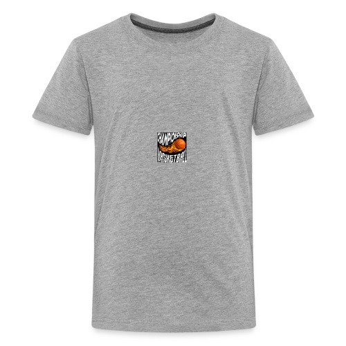 basketball championship banner ball fire icon text - Kids' Premium T-Shirt
