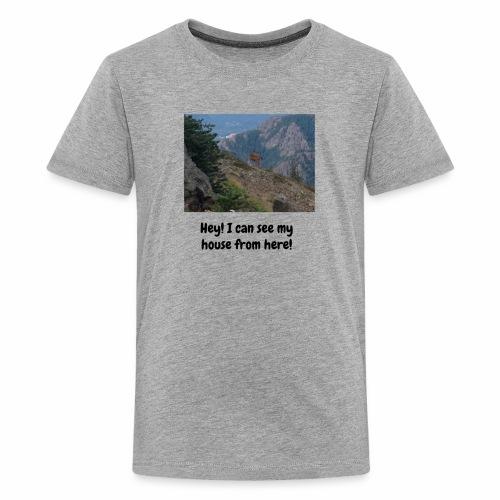 PhotoBomb Deer Funny Tee - Kids' Premium T-Shirt