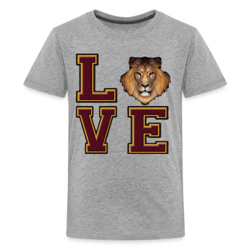Lion Love Maroon Box - Kids' Premium T-Shirt